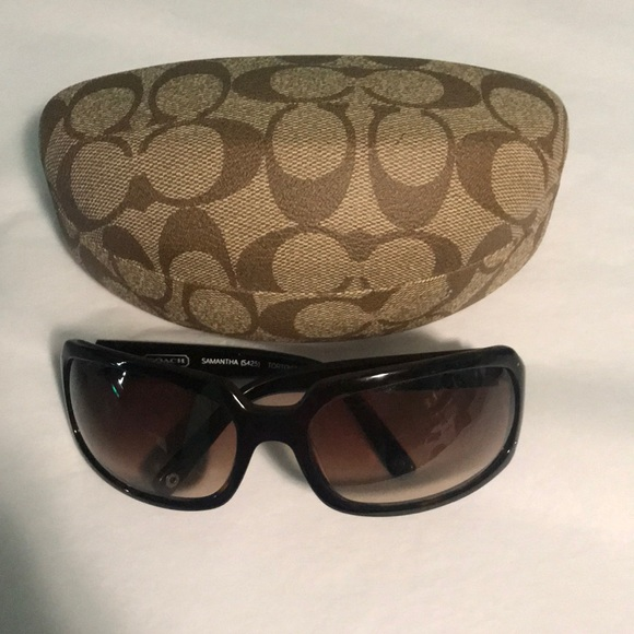 49f0b48a0283 Coach Accessories | New Samantha Sunglasses Tortoise Brown S425 ...